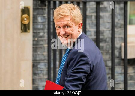London, UK. 14th Feb, 2020. Ministers arrive for the first Cabinet Meeting after the Boris Johnson's reshuffle, Downing Street. Credit: Guy Bell/Alamy Live News - Stock Photo