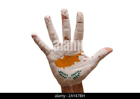 palm flag cyprus - Stock Photo