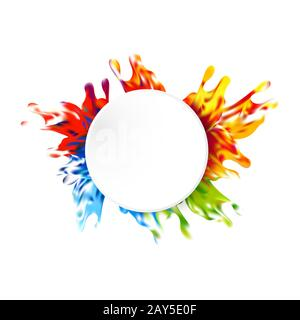 Abstract vector paint color design background. illustration vector design - Stock Photo