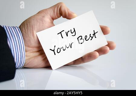 Try your best text concept - Stock Photo