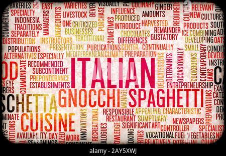 Italian Food Menu - Stock Photo