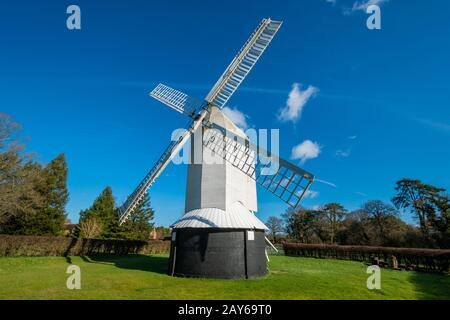 Lowfield Heath Windmill, a grade II listed post mill at Charlwood, Surrey, England, which has been restored to working order. Visitor attraction, UK