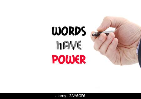 Words have power text concept - Stock Photo