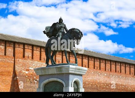 The monument to Dmitry Donskoy in Kolomna Kremlin in Moscow region - Russia - Stock Photo