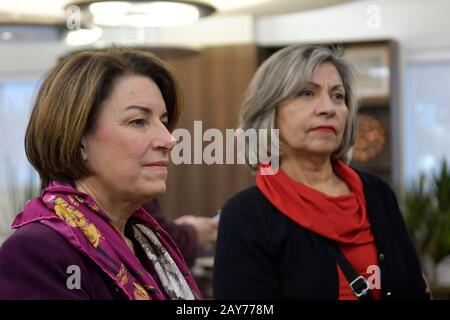 Las Vegas, NV, USA. 14th Feb, 2020. Amy Klobuchar Touring The Culinary Health Center in Las Vegas, Nevada on February 14, 2020. Credit: Damairs Carter/Media Punch/Alamy Live News - Stock Photo