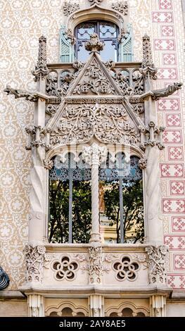 10 JULY 2018, BARCELONA, SPAIN: Modern Architecture building in Barcelona