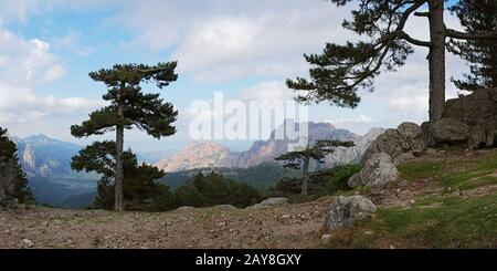 View from the Col de Bavella - Corsica - Stock Photo