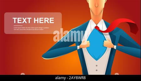 Handsome young man in a business suit wearing a tie with a white shirt. Vector illustration on white background. The concept of - Stock Photo