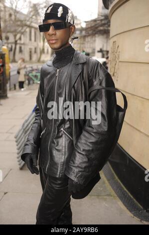 London, UK. 14th Feb, 2020. London Fashion week street style Fall/Winter. Credit: JOHNNY ARMSTEAD/Alamy Live News - Stock Photo