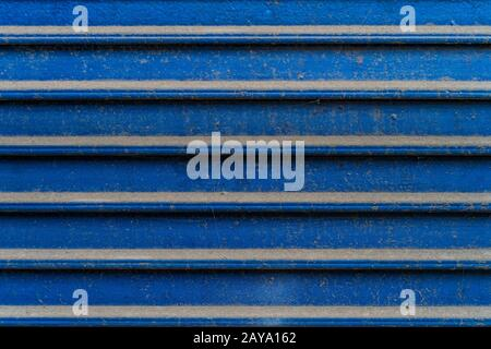 Grunge blue metal horizontal lines. High quality texture and background - Stock Photo