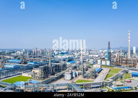 petrochemical oil refinery