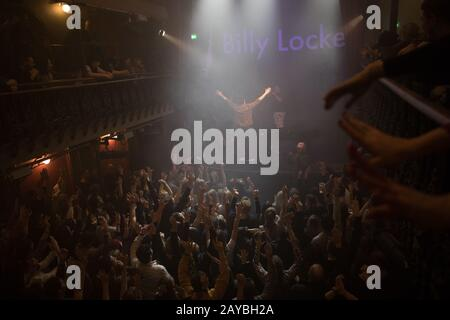 London, UK. 14th Feb, 2020. Billy Lockett performs live on stage during the final leg of his tour at Hoxton Hall in London. Credit: SOPA Images Limited/Alamy Live News - Stock Photo