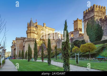 Palace of the Kings of Navarre, Olite, Spain - Stock Photo