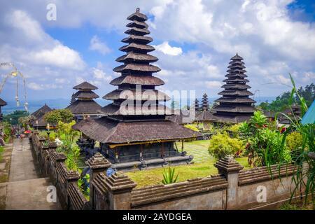 Pura Besakih temple on mount Agung, Bali, Indonesia - Stock Photo