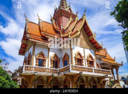 Wat Buppharam temple, Chiang Mai, Thailand - Stock Photo