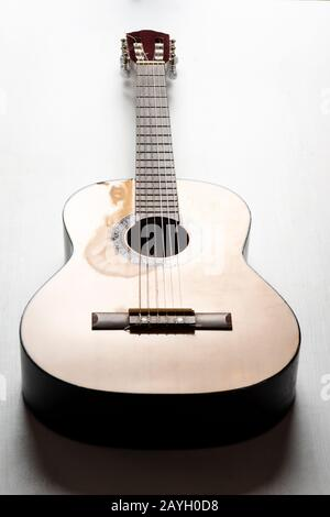 Six string acoustic guitar