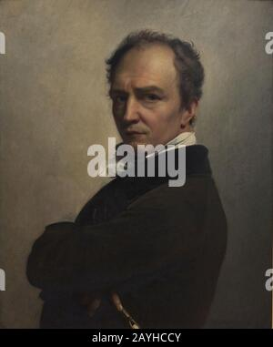 François-Joseph Navez (1787-1869) - Zelfportret (1826) - Stock Photo