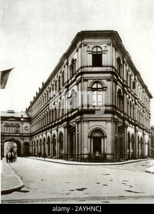 Frankfurt Saalbau 1890. - Stock Photo