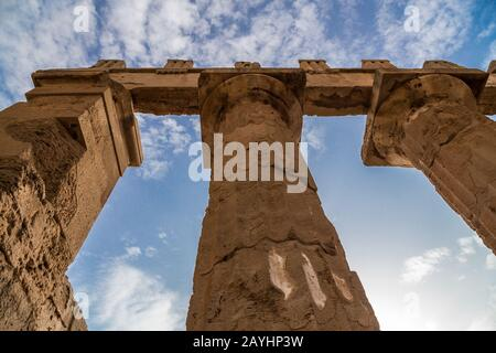 Selinunte -one of the most important of the Greek colonies in Sicily. The largest Archaeological area in Europe - Stock Photo