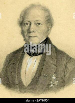 Frans Alexander van Rappard door Anthony Everhardus Grolman. - Stock Photo