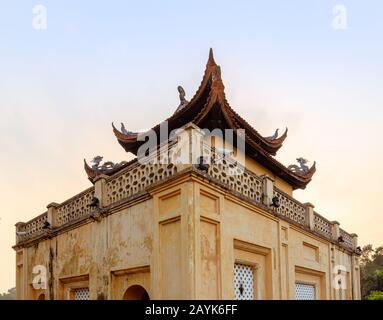 The Imperial Citadel also known as The Old Citadel of Thang Long in Hanoi - Stock Photo