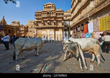Raja Ka Mahal kings palace of Jaisalmer, Rajasthan, India