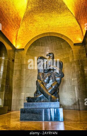 Njegos statue Lovcen - Stock Photo