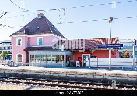 Municipal Germering, District Fürstenfeldbruck, Upper Bavaria, Germany: Main Station of Germering-Unterpfaffenhofen