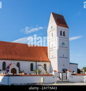 Municipal Germering, District Fürstenfeldbruck, Upper Bavaria, Germany: Chruchyard and Church St. Jakob