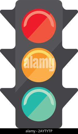 traffic signal icon - Stock Photo
