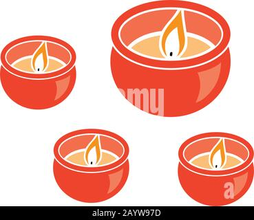 candles, vector graphic design element - Stock Photo