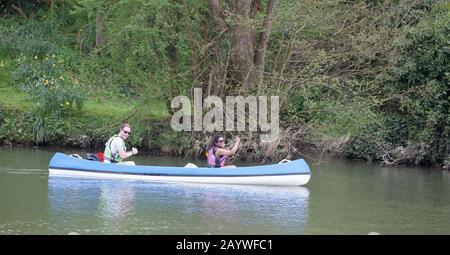 People having fun on the river - Stock Photo