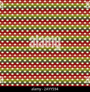 Knitted Christmas seamless pattern in traditional colors. Design background for christmas holiday. Vector illustration - Stock Photo