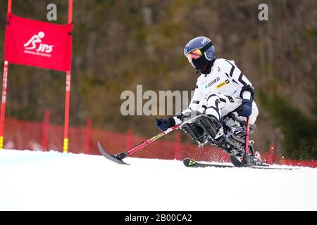 Ueda, Nagano, Japan. 14th Feb, 2020. Aika Kishimoto (JPN), February 14, 2020 - Alpine Skiing : Women's Giant Slalom Sitting at Sugadaira Pine Beak during 2020 World Para Alpine Skiing Asia Cup in Ueda, Nagano, Japan. Credit: SportsPressJP/AFLO/Alamy Live News - Stock Photo