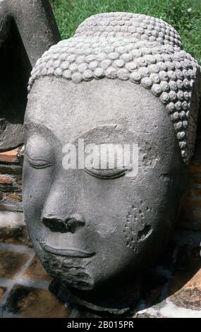 Ayutthaya (Ayudhya)) was a Siamese kingdom that existed from 1351 to 1767. Ayutthaya was friendly towards foreign traders, including the Chinese, Vietnamese (Annamese), Indians, Japanese and Persians, and later the Portuguese, Spanish, Dutch and French, permitting them to set up villages outside the city walls. In the sixteenth century, it was described by foreign traders as one of the biggest and wealthiest cities in the East. The court of King Narai (1656–1688) had strong links with that of King Louis XIV of France, whose ambassadors compared the city in size and wealth to Paris. - Stock Photo