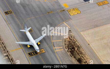 Aeroport de Palma, 09.01.2020, aerial photo, Spain, Balearic Islands, Majorca, Palma - Stock Photo