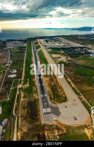 Aeroport de Palma de Majorca, 09.01.2020, aerial view, Spain, Balearic Islands, Majorca, Palma - Stock Photo