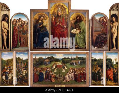 Spiksplinternieuw The Ghent Altarpiece Open, Jan Van Eyck, Hubert Van Eyck 1430 IS-12