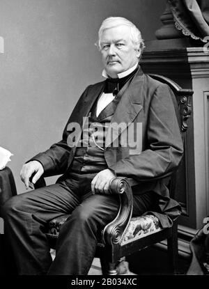 Millard Fillmore (January 7, 1800 – March 8, 1874) was an American statesman who served as the 13th President of the United States from 1850 to 1853.  He was the last Whig president, and the last president not to be affiliated with either the Democratic or Republican parties. - Stock Photo