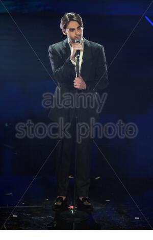 Alberto Urso sanremo, 08-02-2020 - Stock Photo