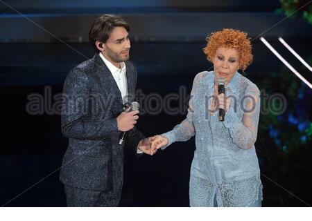 Alberto Urso, Ornella Vanoni  sanremo, 08-02-2020 - Stock Photo