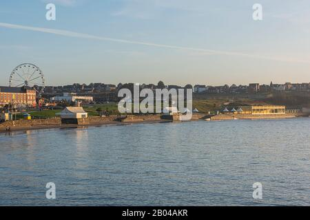 Barry Island on a bright November morning - Stock Photo