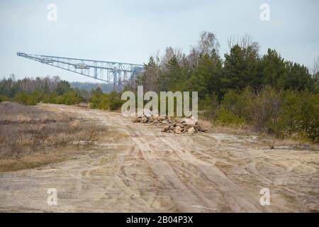 Lichterfeld, Germany. 06th Feb, 2020. The former overburden conveyor bridge F60 in the former opencast lignite mine Klettwitz-Nord is now used as an accessible visitor mine. Credit: Gregor Fischer/dpa/Alamy Live News - Stock Photo