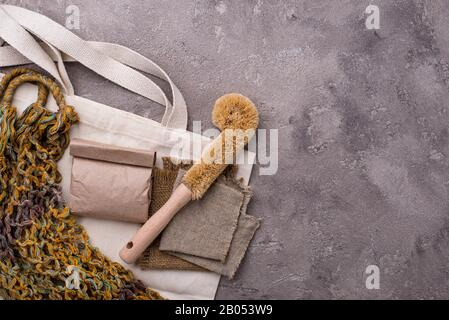 Zero waste natural accessories for cleaning - Stock Photo
