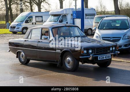 Rover 3500 P6, 1971, Reg No: KGW 404K, at The Great Western Classic Car Show, Shepton Mallet UK, Febuary 08, 2020 - Stock Photo