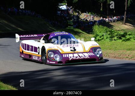 Jaguar XJR-9 at Shelsley Walsh hillclimb, Worcestershire, England, UK. - Stock Photo