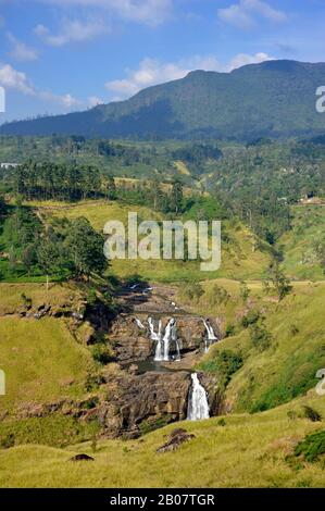 Sri Lanka, Nuwara Eliya, St. Clair's Falls - Stock Photo