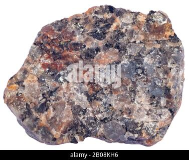 Rapawiki Granite, Plutonic, Italy Rapakivi granite is a hornblende - biotite granite containing large round crystals of orthoclase. - Stock Photo