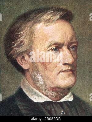 RICHARD WAGNER (1813-1883) German composer about 1870