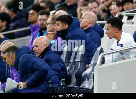 London, UK. 19th Feb 2020. during Champion League Round 16 between Tottenham Hotspur and RB Leipzig at Tottenham Hotspur Stadium, London, England on 19 February 2020 Credit: Action Foto Sport/Alamy Live News - Stock Photo